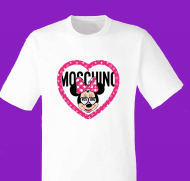 Camiseta Minnie Moschino blanca